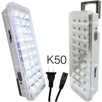 Kit 6 Lamparas Recargables 30 Leds Emergencia Luminario K 50