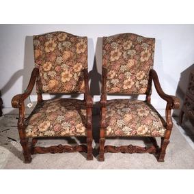 Tapiz gobelino antiguo muebles antiguos en mercado libre - Sillones antiguos tapizados ...