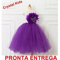 Vestido Infantil Festa Luxo De Dama De Honra Pronta Entrega