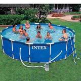Piscina Intex 16805 Lts Kit Completo Escada Capa Filtro
