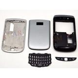 Carcasa Completa Blackberry Torch 2 9810 Color Gris Nueva