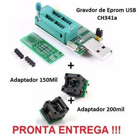 Gravador Eprom Usb Adaptador Soic 8 Sop8 150mil 200mil 3em1
