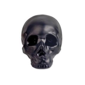 Alcancía En Forma De Cráneo Cerámica Negro Nuevo Decorativa
