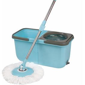 Mop Esfregão Balde Duplo Com 2 Refis Limpeza Mor