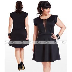Vestido Feminino Rodado Plus Size C/manguinha Roupas S/renda