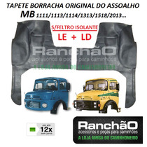 Tapete Borracha Original Caminhão Mb 1113 2013 S/feltro Par