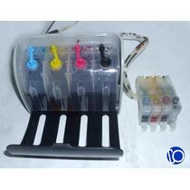 Sistema Continuo Tintas Epson 4 Cartuchos Sin Chip T22 Tx130