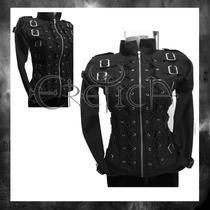 Chamarra Eretica Ropa Dark Gotico,metalero,rokero Poliester4