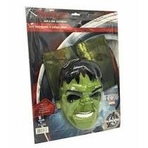 Kit De Remera Y Mascara Hulk Disfraz Original De New Toys
