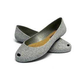 2 Pares Sapatilhas Feminina Glitter Flocada I Love Shoes