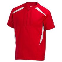 Rawlings Trainer Jacket Chamarra Bateo Juvenil Roja Xl
