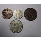 4 Moneda Colombia 1 2 2.1/2 10 Centavos Antigua Lote C14 *