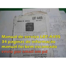 Manual Serviço Sony Lbt-a495 Lbta495 Lbt495 Lbt 495 Em Pdf