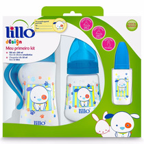 Mamadeiras Design Fashion Cachorrinho Azul Lillo - Kit Com 3