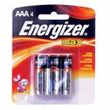 Pilas Alcalina Energizer 4 Pzas Aaa Control Remoto Radio Hm4
