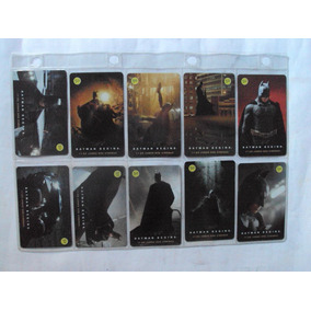 Cartões Telefônicos Batman Begins - Coleção Completa Com 12