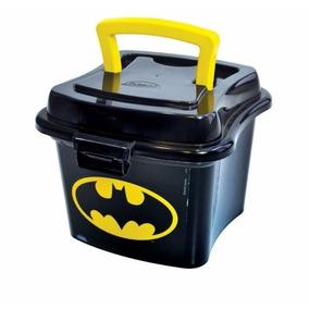 Kit 2 Lancheira Sanduicheira Minibox Plástico Batman C/ Alça