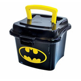 Lancheira Sanduicheira Mini Box Plástico Batman Com Alça 1l