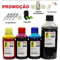 1350ml -kit Tinta Recarga Cartuchos Impressora Hp + Seringas