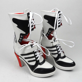 Sapato Bota Cosplay Harley Quin Arlequina - Sob Encomenda
