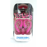 Audifono Philips Blanco Flexible Fit Shs3200 Rosado