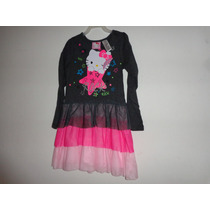Vestido Niña Hello Kitty Talla:6x Y 8 Modelo:1014