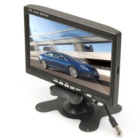 Tela Monitor 7 Pol P/ Camera Ré Dvd P/ 2 Cameras Carro E73