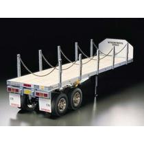 Carreta Semi Trailer Tamiya Truck Flatbed 1/14 Pront Entreg