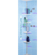 Esquinero Repisas Para Baño Armable Ajustable Nuevo Crrd