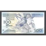 Por004 Billete De Portugal De 100 Escudos De 1986 Unc Aff*