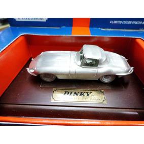 Jaguar E Type De Peltre Con Base Madera Dinky Matchbox 1/43