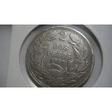Dos Pesos Chilenos 1927 Moneda De Plata