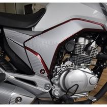 Adesivo Tuning Tampa Lateral Moto Honda Cg Titan 150 14 15
