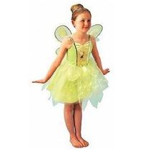 Fantasia Infantil Tinker Bell Sininho P 3-4 Anos Rubies