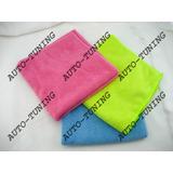 Kit De 3 Paños De Micro Fibra Naranja Azul Y Verde
