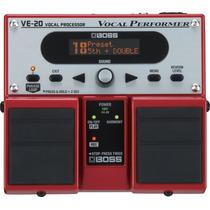 Pedaleira Vocal Boss Ve20 Principais Efeitos Para Voz Ve-20