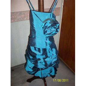 Vestido De Fiesta Corto Con Breteles