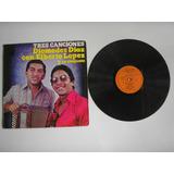 Lp Vinilo Diomedes Diaz Con Elberto Lopez Tres Canciones1977