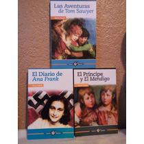 Libros Paquete De 3 El Diario De Ana Frank, Las Aventuras De