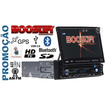 Dvd Booster Retratil Automotivo 9680 Gpstv Digital Bluetooth