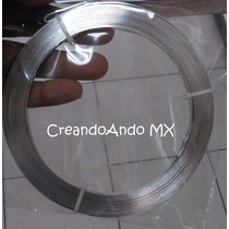 Alambre Bisuteria Aluminio Plano 3.5 Mm X 5 Mts Color Plata