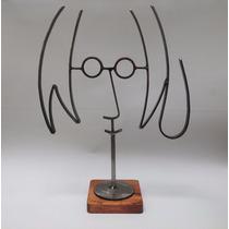 John Lennon / Figura De Metal / Fierro / Base Oscura