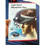 Pak 2 X Visera Lupa Magnificadora Luz Led Prof Mas 4 Lupas