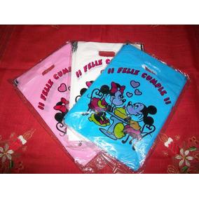 Bolsitas Para Cumpleaños Minnie Y Mickey X 50 Unidaes