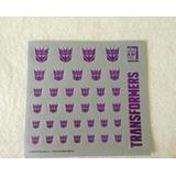 Transformers Decepticon Etiqueta Engomada Del Logotipo