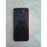 Iphone 5c Rosa Com Tela Trincada