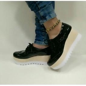 Zapatos Oxford Plataformas De Damas