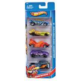 Brinquedo Infantil Hot Wheels Kit C/ 5 Carros Básicos Mattel