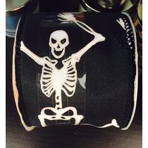 Liston Halloween Rollo De 3.6 Mtrs Brilla En La Obscuridad