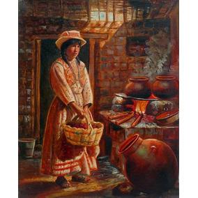 Cocinando En 50 X 60 Cm En Tela Canvas Exelente